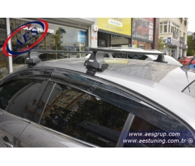 RENAULT FLUENCE THULE RAPİD SYSTEM 754 + KARE ÇELİK BAR + KİT